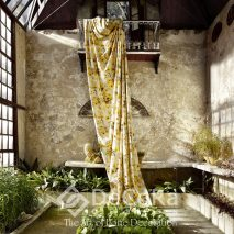 1.PAAT057-draperie-galben-model-floral-clasic