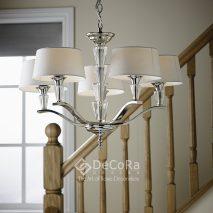 EN052-candelabru-modern-argintiu-abajur-alb