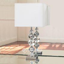 EN165-lampa-moderna-globuri argintii-abajur-alb