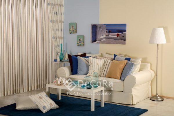 LBNT003-perdea-alb-dungi-modern-maro-buline-albastru-ieftin