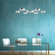 Wohndesign - Esszimmer weiss blau