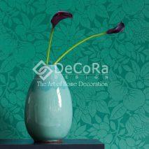 LSDO003_tapet_flori_turcoaz_turcoise_albatru_verde
