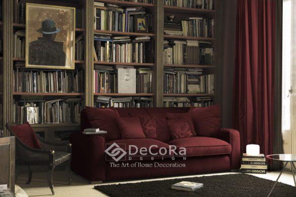 LSTT008-draperie-visiniu-modern-canapea-tapisat-perne-decorative-uni-model-floral