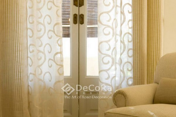 LSTT015-perdea-bej-model-abstract-draperie-ieftin