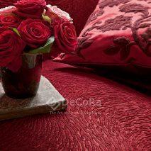 LZRT047-taiserie-canapea-model-abstract-rosu-perna-decorativa-molde-floral