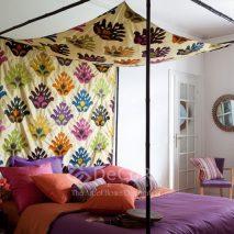 LZRT053-material-textil-baldachin-model-floral-bej-maro-negru-rosu-mov-albastru-verde