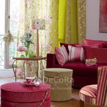 LZRT056-perdea-draperie-model-floral-verde-roz-model-abstract