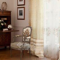 LZRT060-perdea-alb-clasic-model-floral-draperie-bej-dungi-maro