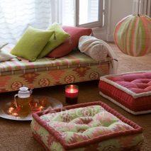 LZRT062-tapiserie-model-abstract-perne-decorative-verde-mov-roz-alb-perdea-alb-clasic-model-geometric