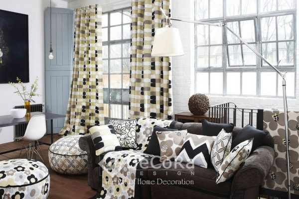 LxxT020-draperie-galben-bej-alb-negru-gri-model-geometric-modern