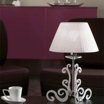 PGI109-lampa-clasica-argintie-abajur-alb