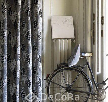PSTT031-draperie-gri-model-floral-negru-alb-modern