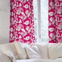 PTV031-draperie-model-floral-rosu-alb