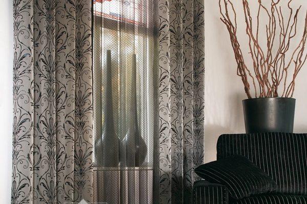PXXT212-draperie-abstract-gri-negru-perdea-voal-gri-modern