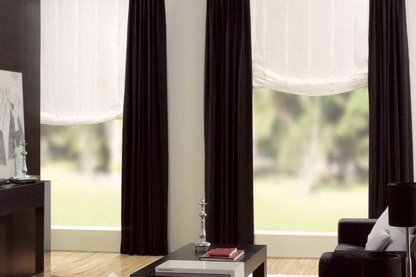 PXXT231-draperie-negru-sistem-venetian-alb-dungi-modern