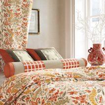 PZRT022-draperie-model-floral-rosu-portocaliu-modern