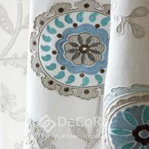 PZRT026-draperie-elegant-catifea-model-floral-albastru-alb-gri