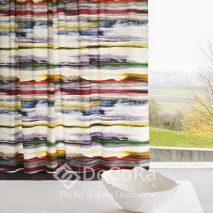 PZRT040-perdea-model-abstract-albastru-galben-rosu-maro-burgundy-modern