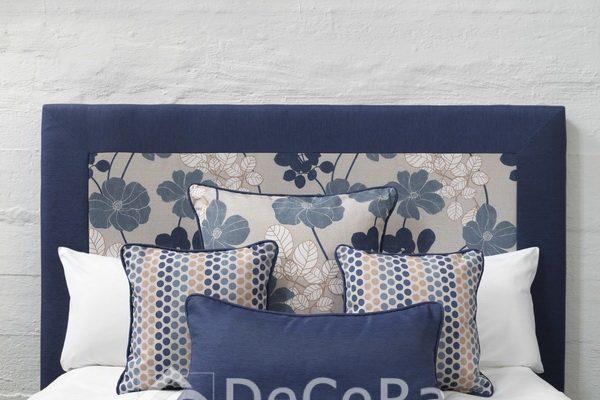 PxxA025-perne-decorative-dormitor-albastru-uni-buline-portocaliu-model-floral-alb