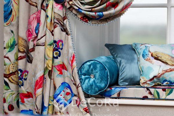 SXXT295-draperie-model-floral-rosu-albastru-maro-elegant-modern