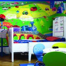 SxxW010-tapet-copii-verde-albastru-rosu-galben-mov-modern