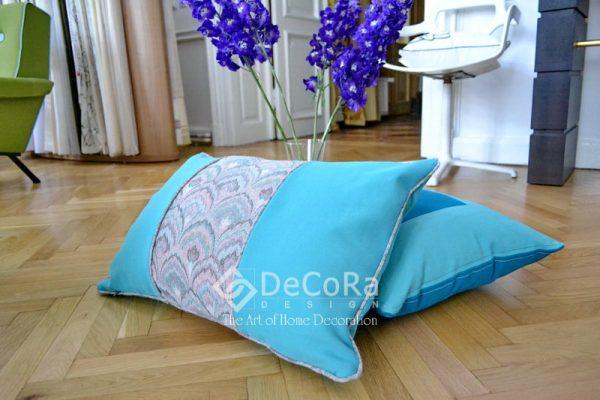 perne decorative albastre