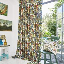 SOUTH PACIFIC CAM 1-DRAPERII-IMPRIMEU-MODEL-FLORAL-MULTICOLORE-PERNE-DECORATIVE-SET