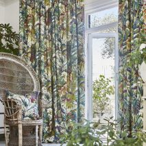SOUTH PACIFIC CAM 10-DRAPERII-IMPRIMEU-MODEL-FLORAL-SET-PERNE-DECORATIVE