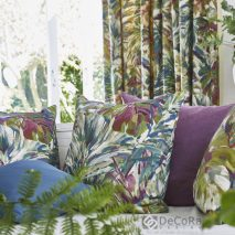 SOUTH PACIFIC CAM 11-SET-DRAPERII-PERNE-DECORATIVE-IMPRIMEU-MODEL-FLORAL-NUANTE-MOV-ALBASTRU-VERDE