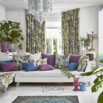 SOUTH PACIFIC MAIN-DECOR-LIVING-SET-DRAPERII-PERNE-DECORATIVE-IMPRIMEU-MODEL-FLORAL