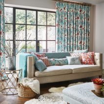 TRESCO MAIN-SET-DECOR-LIVING-DRAPERII-IMPRIMEU-FLORAL-PERNE-DECORATIVE-IMPRIMEU-CUVERTURA